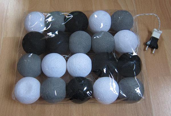 lichterkette 20 balloon b lle deko neu ebay. Black Bedroom Furniture Sets. Home Design Ideas